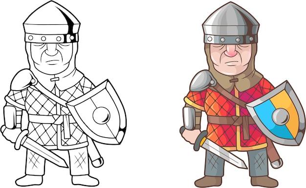 Illustration des englischen soldaten der karikatur