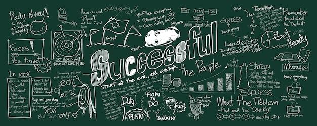 Illustration des erfolgreichen konzeptes