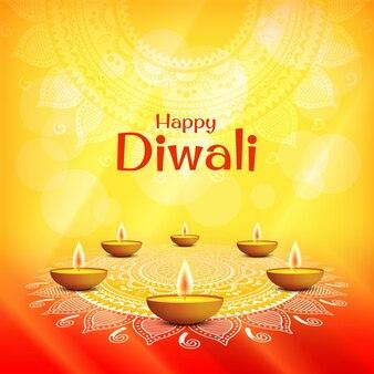 Illustration des feiertags diwali. deepavali. lichterfest.
