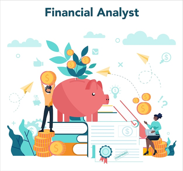 Illustration des finanzberaters oder des finanzierkonzepts