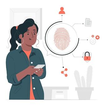 Illustration des fingerabdruckkonzepts