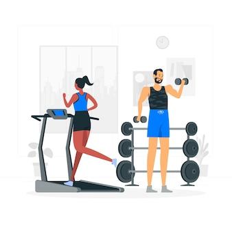 Illustration des fitnessstudio-konzepts