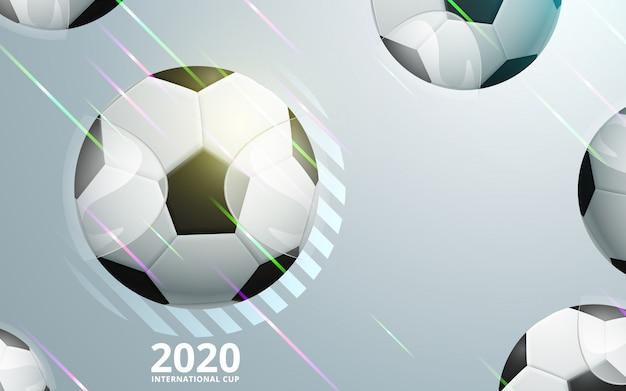 Illustration des fußball-meisterschaftsfußballs trägt hintergrund zur schau.