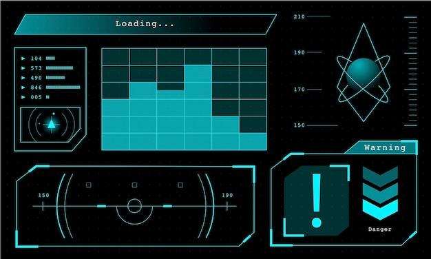 Illustration des futuristischen datenverarbeitungsdiagramms