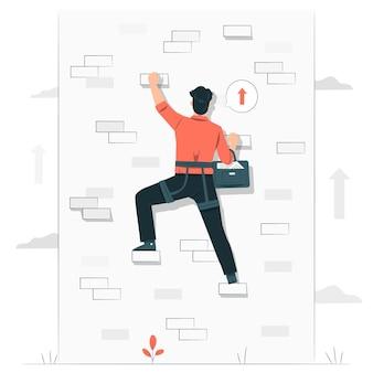 Illustration des geschäftsherausforderungskonzepts