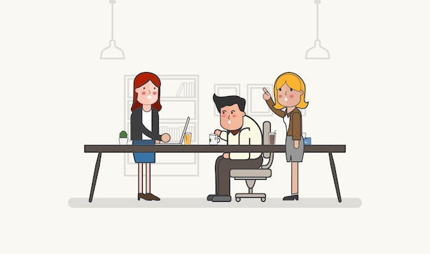 Illustration des geschäftsleute avataras
