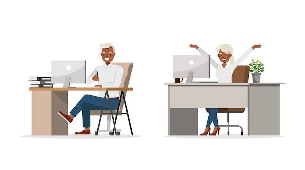 Illustration des geschäftsmannarbeiters