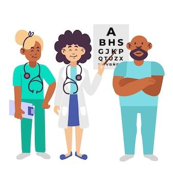 Illustration des gesundheitsteams