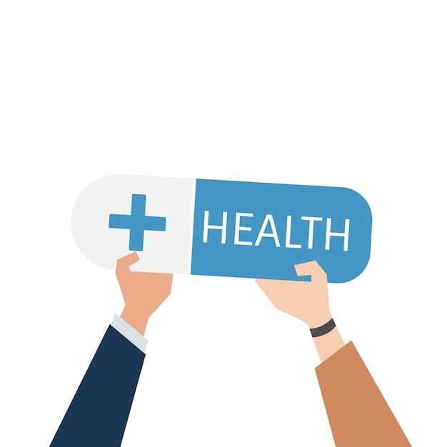 Illustration des gesundheitswesenservice-konzeptes