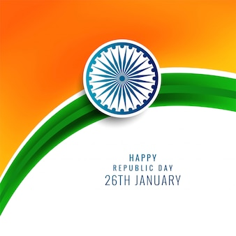 Illustration des glücklichen tages der republik von indien