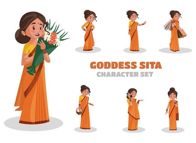 Illustration des göttin-sita-zeichensatzes