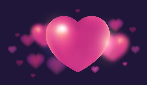 Illustration des großen herzens der schönen rosa farbe