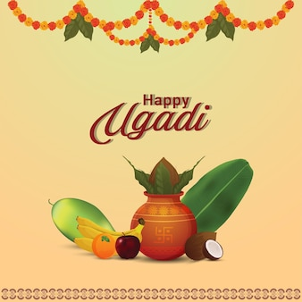 Illustration des gudi padwa festivals von indien