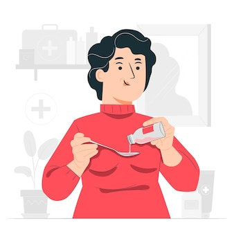 Illustration des heilmittelkonzepts (medizin)