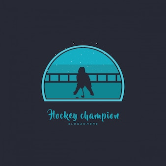 Illustration des hockeydesigns, hockeysilhouette