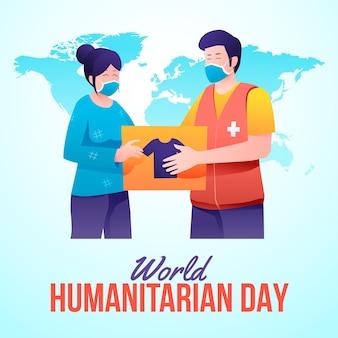 Illustration des humanitären welttags mit farbverlauf