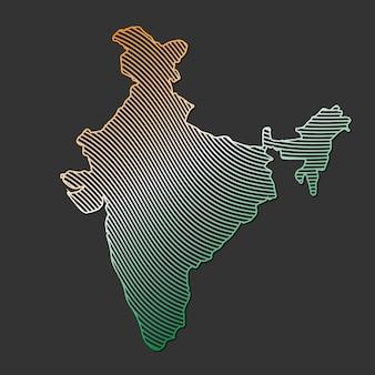 Illustration des indien-kartenvektors