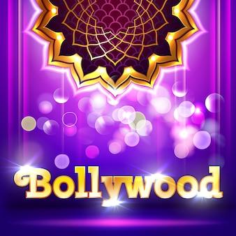 Illustration des indischen bollywood-kinobanners