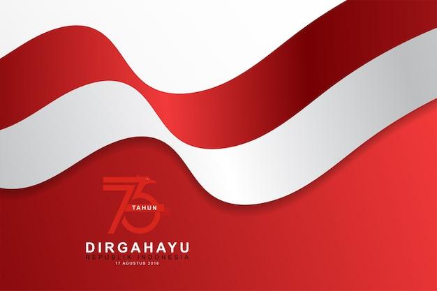 Illustration des indonesischen flaggenhintergrundes