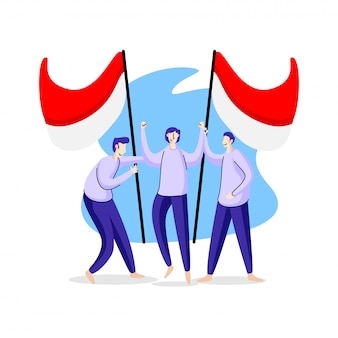 Illustration des indonesischen unabhängigkeitstags