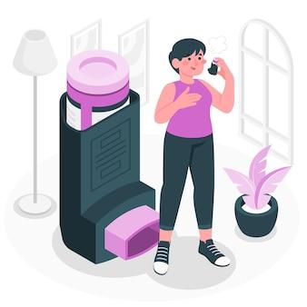 Illustration des inhalatorkonzepts