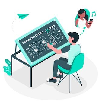 Illustration des interaktionsdesignkonzepts
