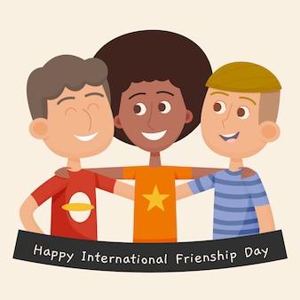Illustration des internationalen freundschaftstags der karikatur