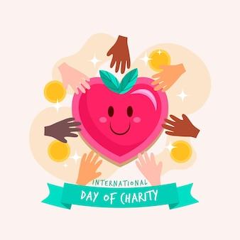 Illustration des internationalen tages der wohltätigkeitsveranstaltung