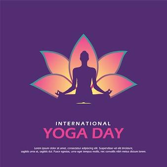 Illustration des internationalen yogatages