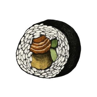 Illustration des japanischen essens