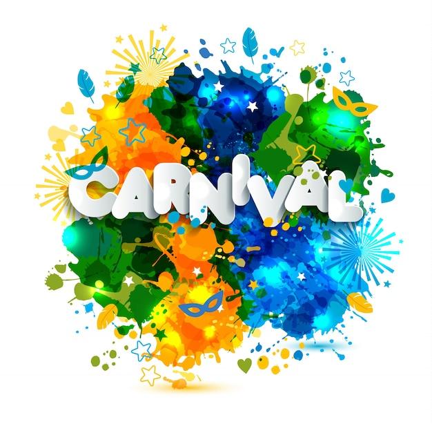 Illustration des karnevals von brasilien-ferien auf aquarellflecken