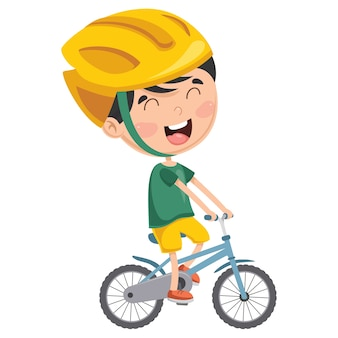 Illustration des kinderradfahrens