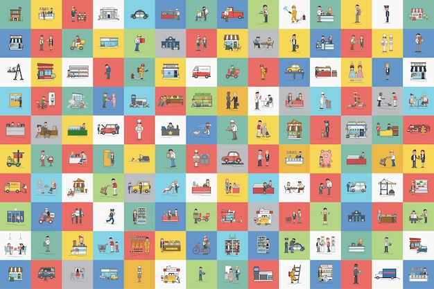 Illustration des kleinunternehmens vektorsatz