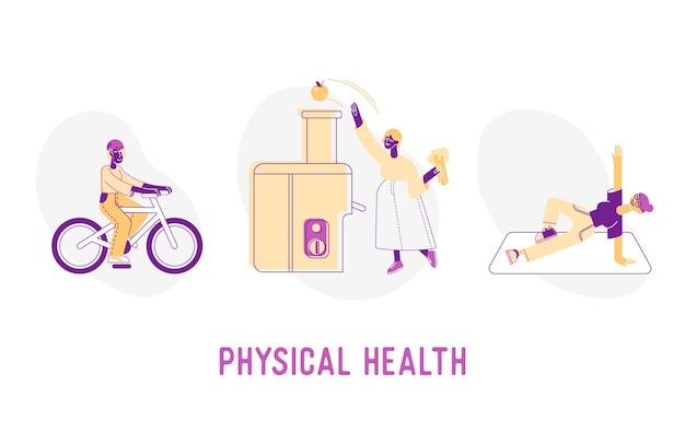 Illustration des konzepts der körperlichen gesundheit