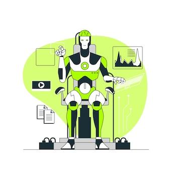 Illustration des konzepts der künstlichen intelligenz