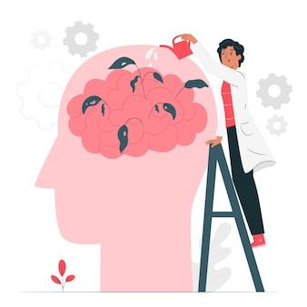 Illustration des konzepts der psychischen gesundheit