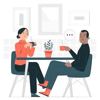 Illustration des konzepts der sozialen interaktion