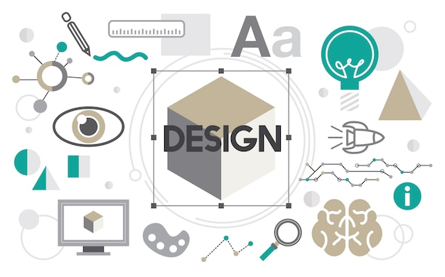 Illustration des kreativen grafikdesigns