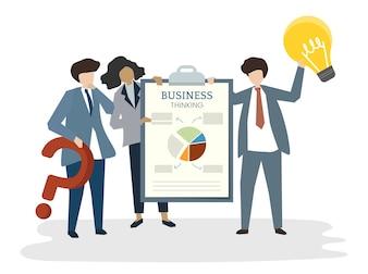 Illustration des Leuteavataraplan-Unternehmensplankonzeptes