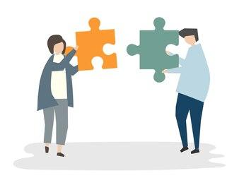Illustration des Leutevatara-Teamwork-Konzeptes