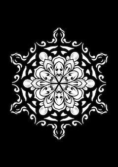 Illustration des mandalakunstdesigns