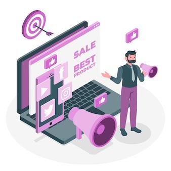 Illustration des marketingkonzepts