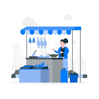 Illustration des marktplatzkonzepts