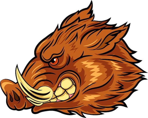Illustration des maskottchens des kopfwilds ebers