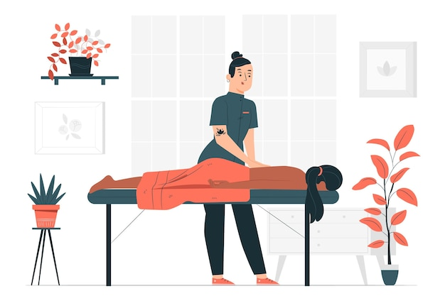 Illustration des massagetherapeutenkonzepts
