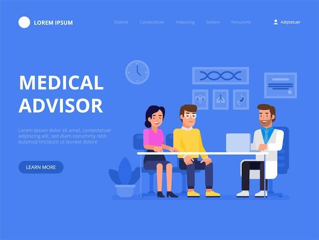 Illustration des medizinischen beraters