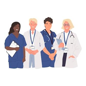 Illustration des medizinischen fachmannteams