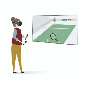 Illustration des menschlichen Avataras unter Verwendung der Technologie