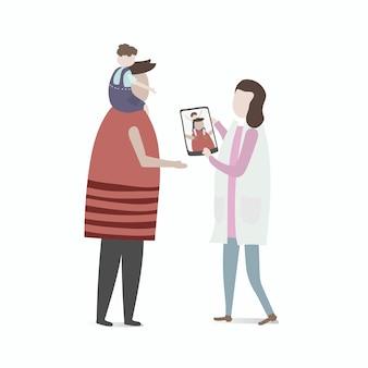 Illustration des menschlichen avatars