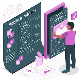 Illustration des mobilen drahtgitterkonzepts